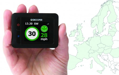 Snooper My-Speed comes pre-loaded with speed limits covering roads across Western Europe.