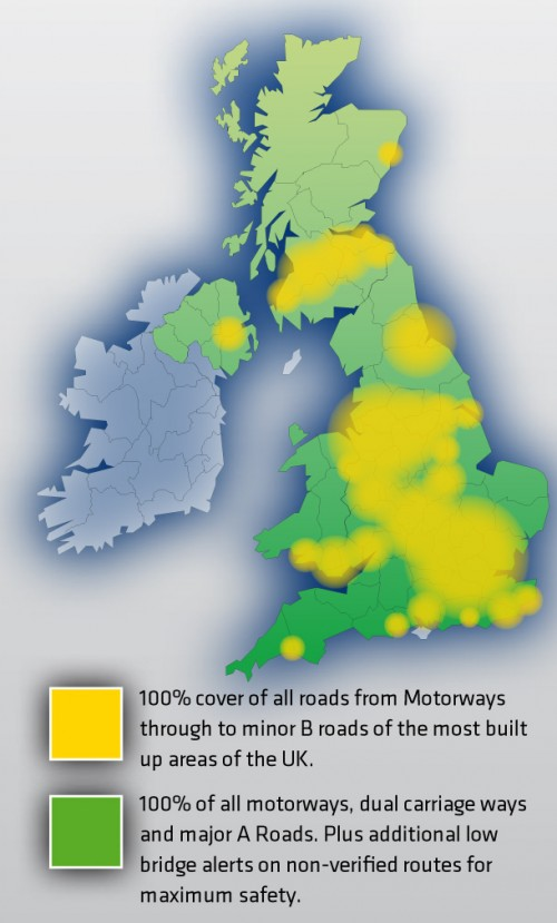Truckmate Commercial Coverage of the United Kingdom.