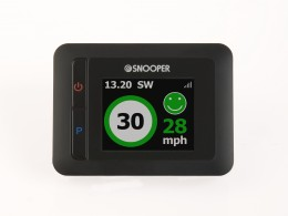 MY-SPEED's green 'safe alert' clearly indicates you are driving safely within the speed limit.
