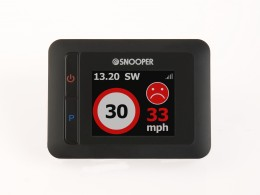 MY-SPEED's red 'danger theme' clearly indicates you are driving above the speed limit and need to slow down!